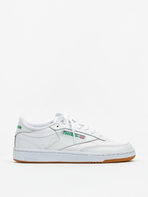 Club C 85 - White/Green/Gum