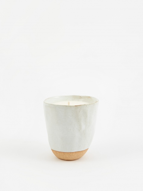 Japanese Stoneware Candle - Cream Cherry Blossom