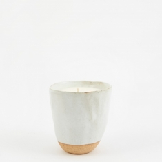 Provider Store Japanese Stoneware Candle - Cream Cherry Blossom