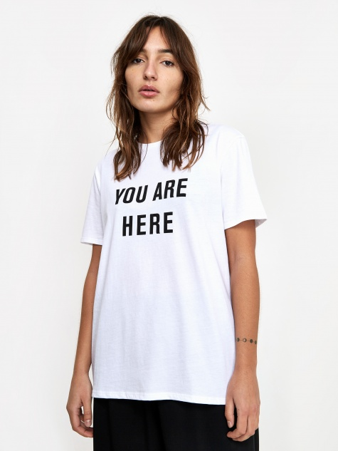 You Are Here Boy T-Shirt - White