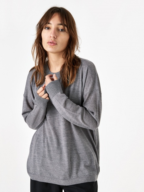 Slouchy Crewneck Sweatshirt - Heather Grey