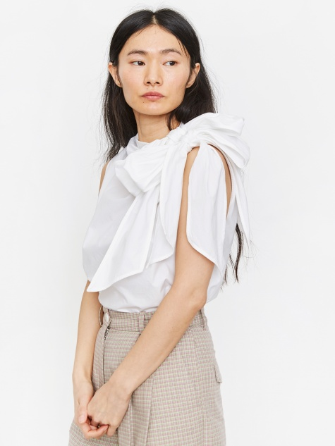 Cotton Poplin Top - Bright White