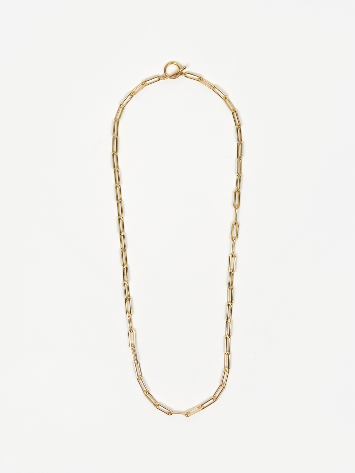 Gabriela Artigas Rectangular Link Chain Necklace With Tusk Clasp (Image 1)