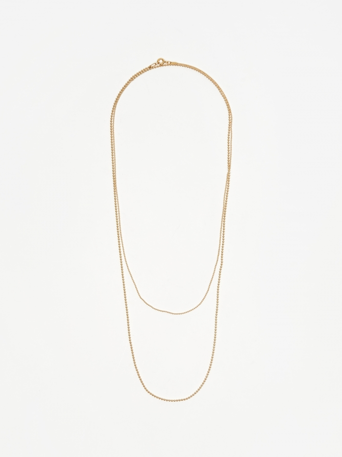 Gabriela Artigas Soft Ball Long Chain Necklace - Yellow Gold Pla (Image 1)
