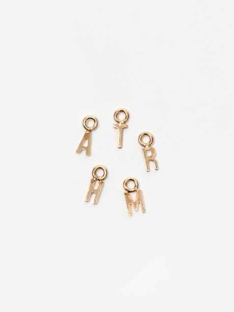 Initial Charm - 14k Gold Plate