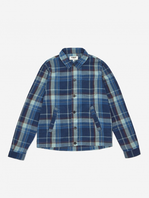 Bowling Shirt - Navy Check