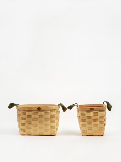 Woven wooden Basket Set - Natural