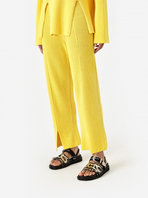 Ware Knit Trouser - Yellow