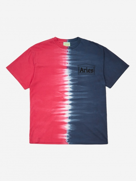 Classic Tie Dye Half and Half Shortsleeve T-Shirt - Blue/F