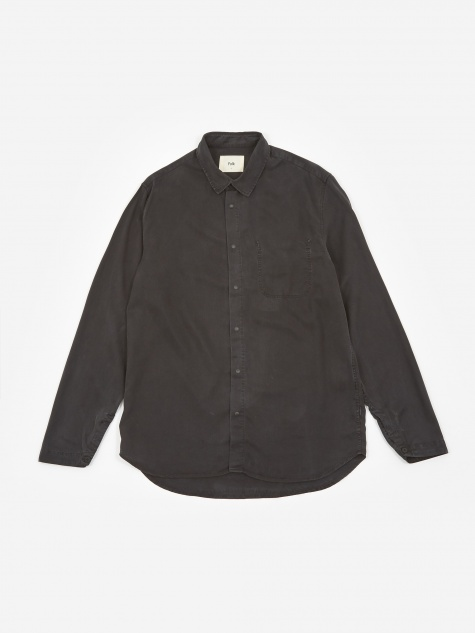 Stitch Pocket Shirt - Soft Black
