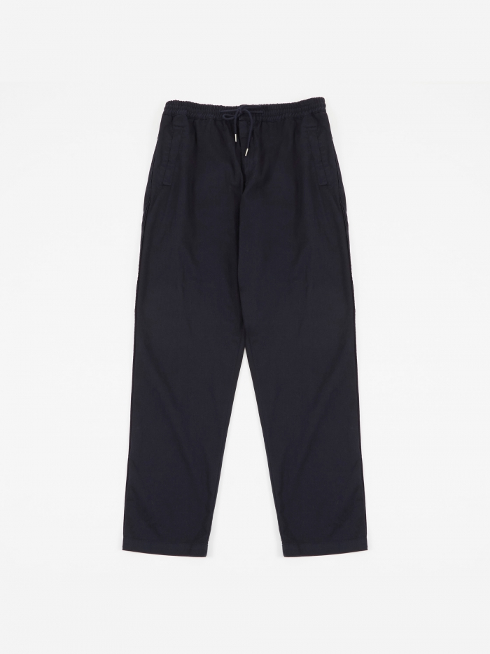 Folk Drawcord Trousers - Deep Navy (Image 1)