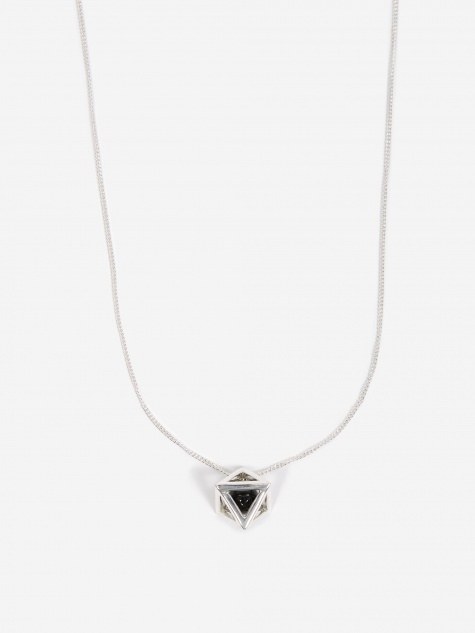 Octa Large Pendant - Sterling Silver/Black Onyx