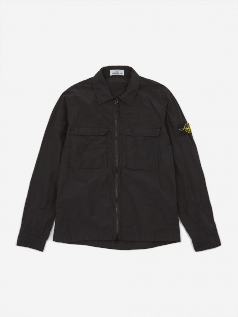 Naslan Light Tinto Cap Overshirt - Black