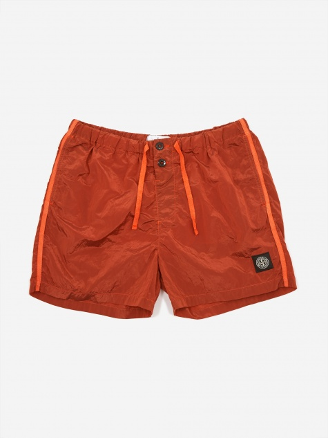 Nylon Metal Garment Dyed Short - Orange
