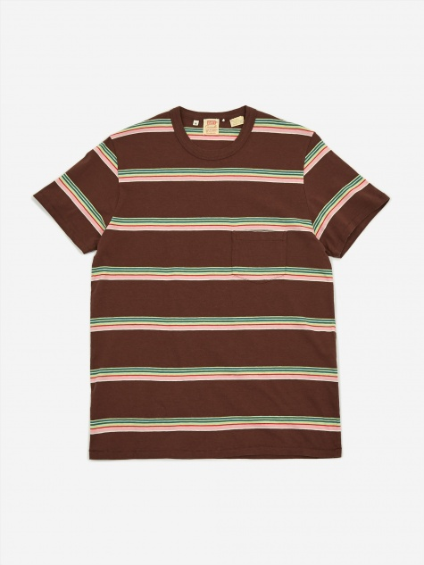 Levis Vintage Clothing 1960 Casuals Stripe T-shirt - Brown Multi