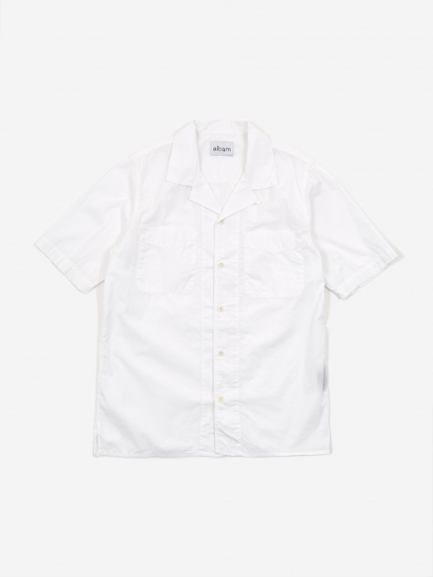 Revere Collar Shortsleeve Shirt - White