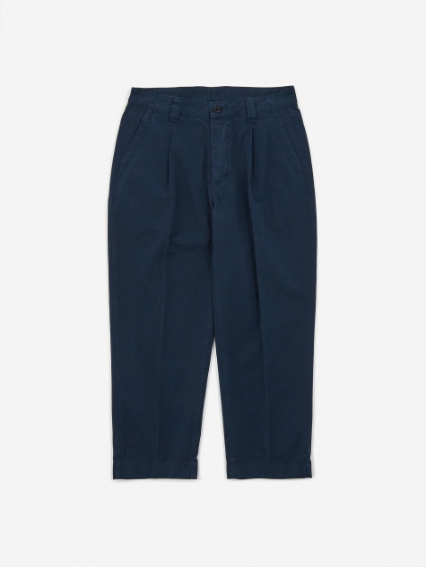 GD Ripstop Pleated Trouser - Navy