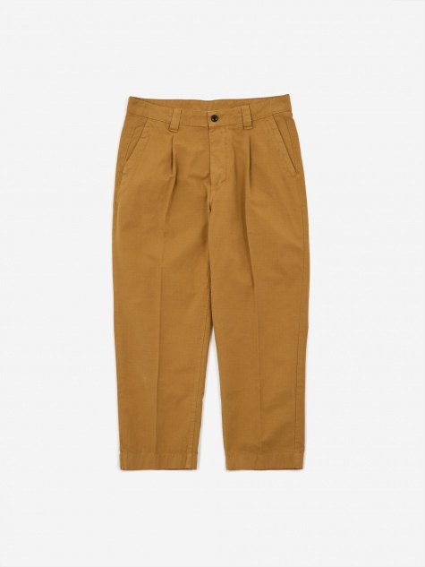 GD Ripstop Pleated Trouser - Tobacco