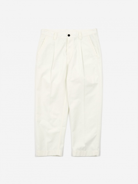 GD Ripstop Pleated Trouser - Ecru