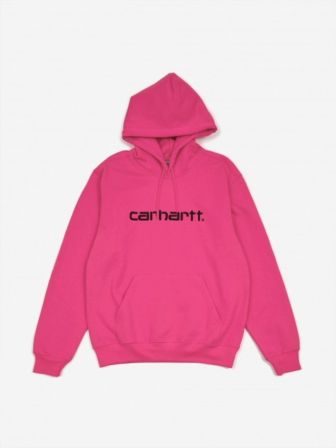 Hooded Sweatshirt - Ruby Pink/Black
