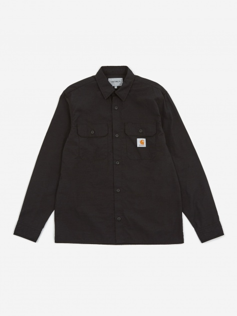 Longsleeve Field Shirt - Black Rinsed