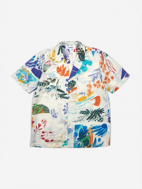 Orson Silk Shirt - Multi White