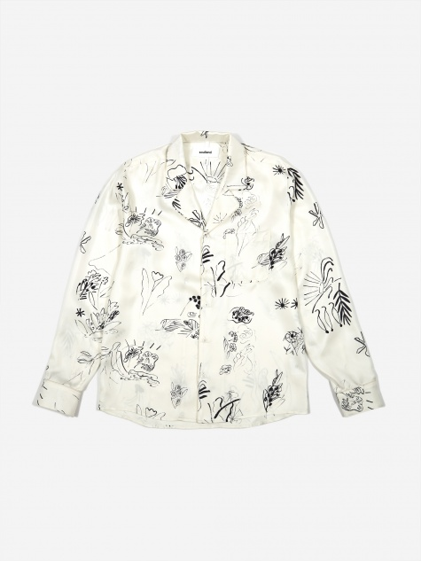 Richman Silk Longsleeve Shirt - White Multi
