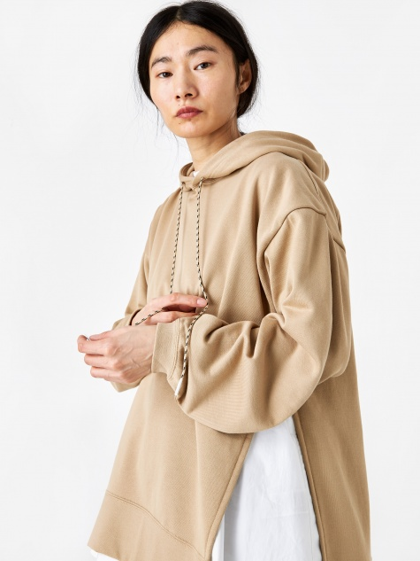 Combination Urake Hooded Sweatshirt - Beige