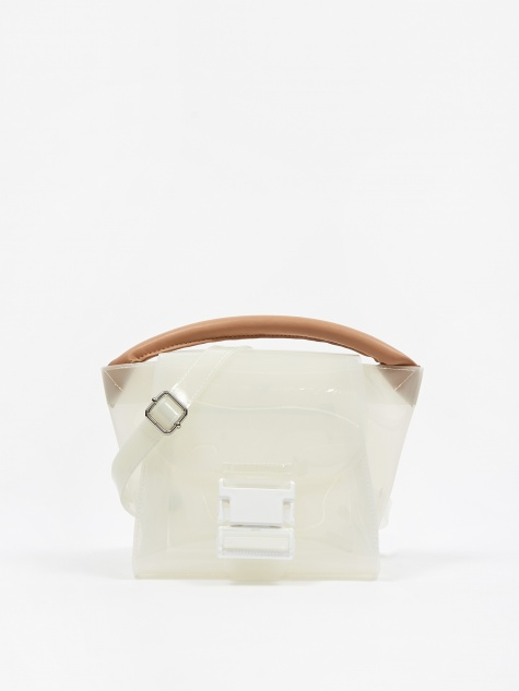 Buckled Bag Milk Medium - White