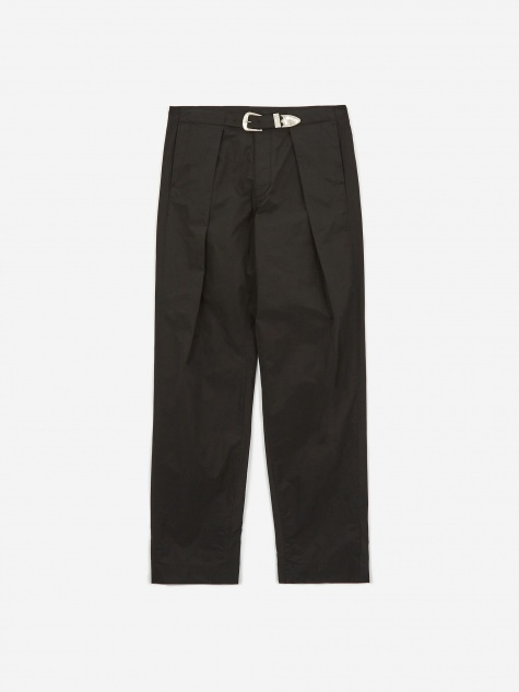 Tafeta Belt Trouser - Black