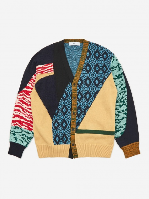 Jacquard Knit Cardigan - Blue
