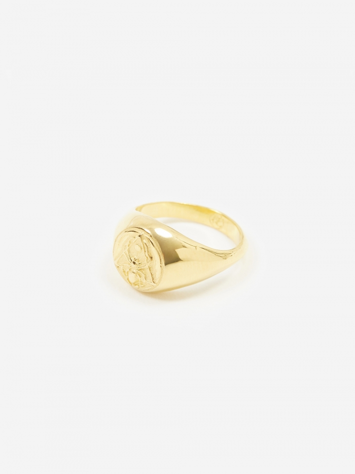 Rachel Entwistle Creation Signet Ring - 18ct Gold Plated (Image 1)