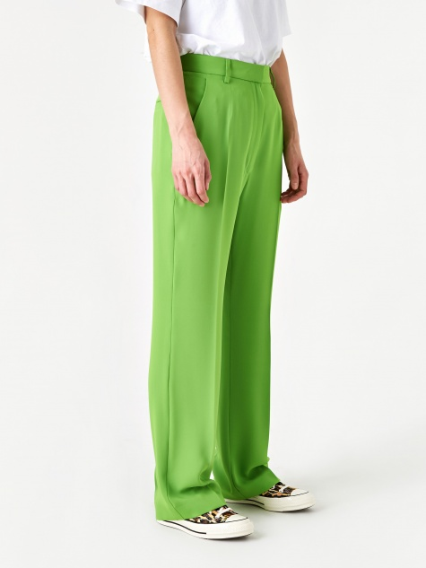 Pleat Front Trouser - Apple Green