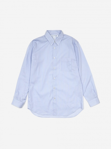 Comme Des Garcons Shirt Forever Stripe Shirt - Light Blue Stripe
