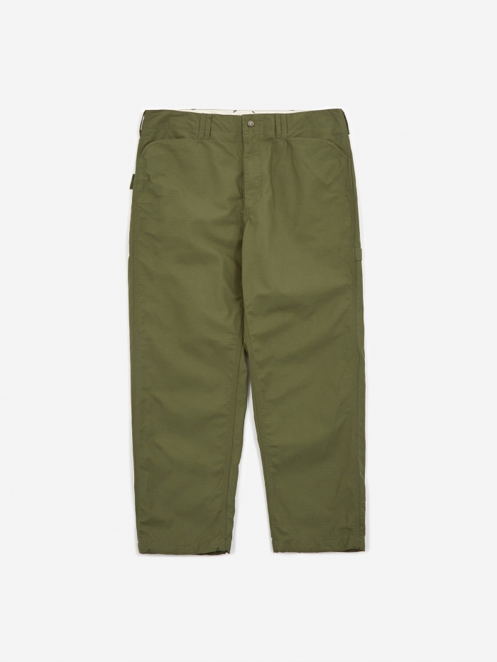 Engineered Garments Ripstop Painter Pant - Olive (Image 1)