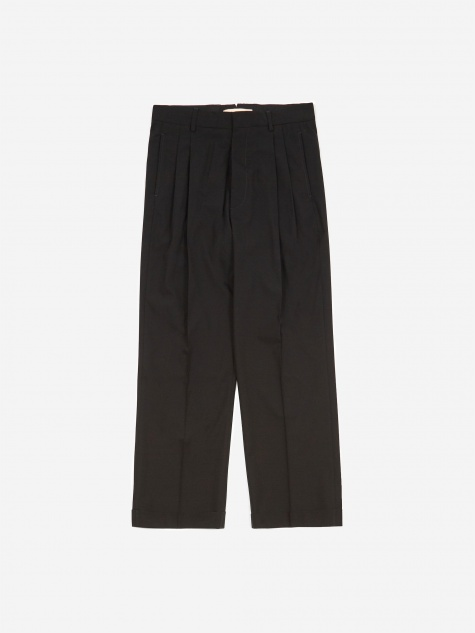 Cotton Wool Tonic Trouser - Black