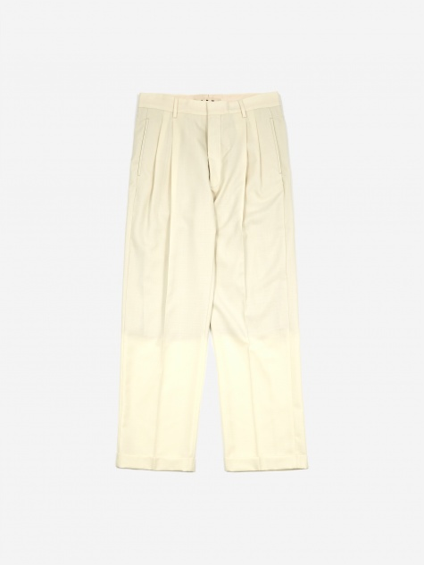 Cotton Wool Tonic Trouser - Ivory