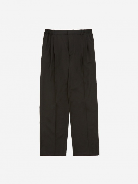 Jez Pleated Relaxed Fit Trouser - Black
