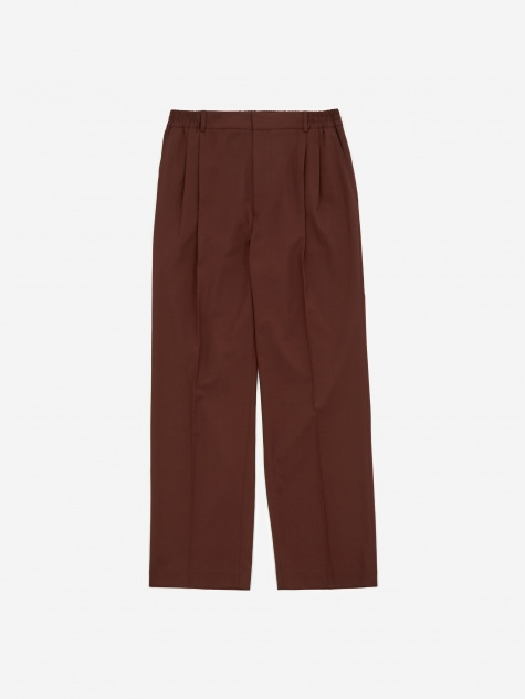 Jez Pleated Relaxed Fit Trouser - Burgundy