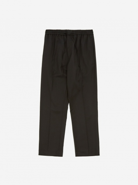 Stan Tapered Drawstring Trouser - Black