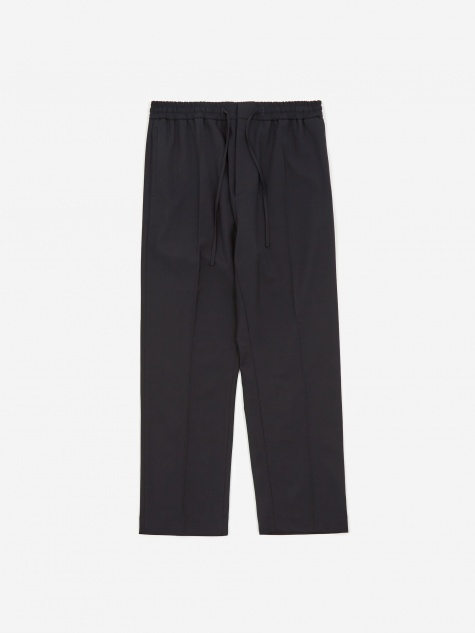 Stan Tapered Drawstring Trouser - Navy