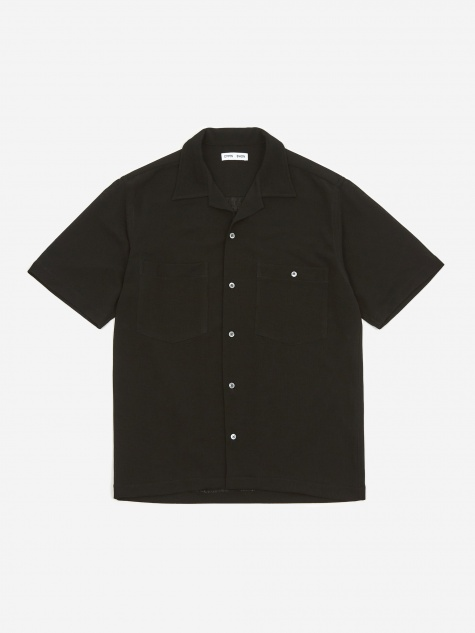 Dexter Camp Collar Shortsleeve Shirt - Black