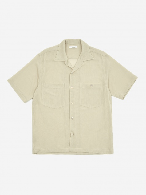 Dexter Camp Collar Shortsleeve Shirt - Cream