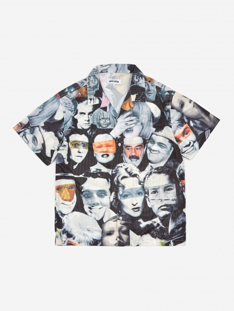 Jersey Mesh Club Shirt - Faces Collage