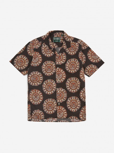 Camp Shortsleeve Shirt - Medallion Kalamkari