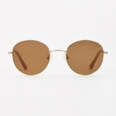 Sun Buddies Ozzy Sunglasses - Gold/Brown