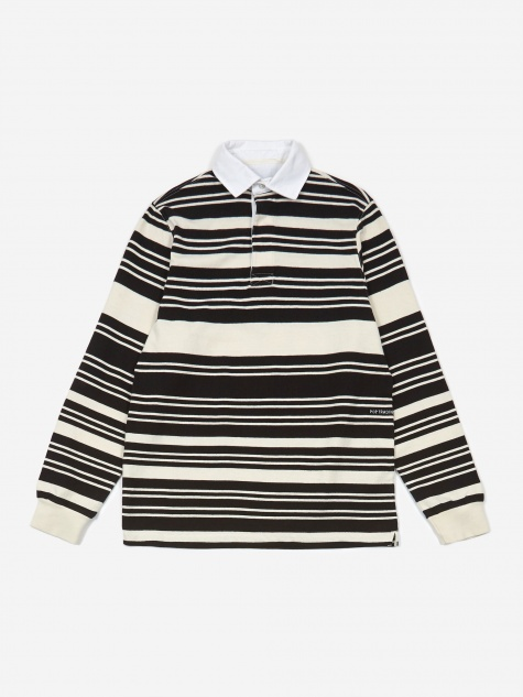 Striped Rugby Shirt - Off White/Black