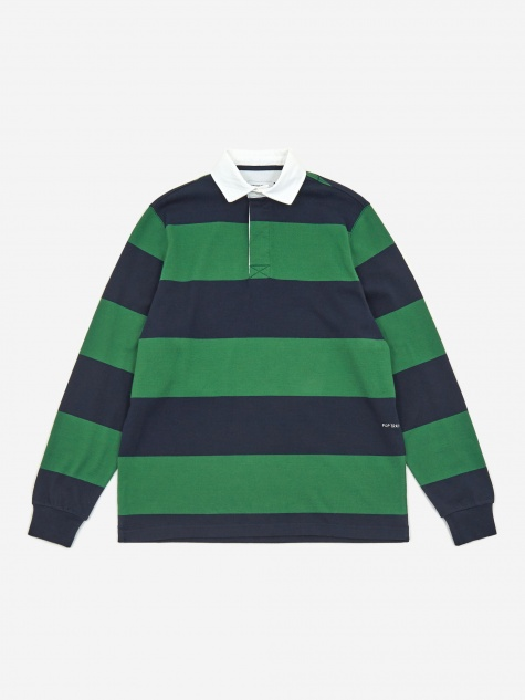 Logo Rugby Shirt - Kelly Green/Navy