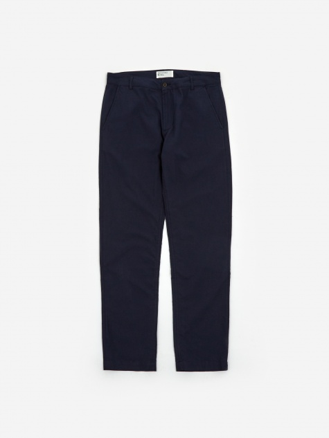 Aston Pant - Navy Cotton Suiting