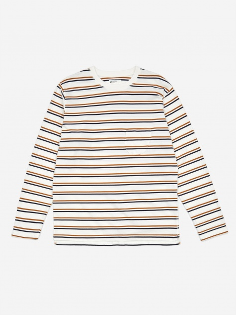 Narrow Stripe Longsleeve T-Shirt - Ecru